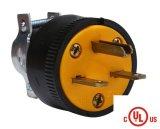UL cUL утверждения стандарта США электрический прямой отвал разъемы питания 3 контактный разъем 15A 250 В