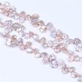 Природные 10мм фиолетовый возрождается Keshi Pearl ожерелья цепи