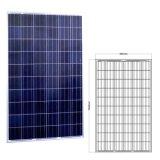 Energia solar elevada de eficiência 250W da pilha de categoria A da alta qualidade
