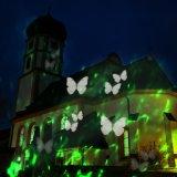 Movimiento 2017 de la UL LED 2 en 1 araña roja clara del verde de la onda del punto de noche de la luz del paisaje de la onda de agua de la etapa de la proyección del caleidoscopio del color