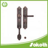 Maniglia di portello dei migliori prodotti di prezzi bassi grande con la leva di /Zinc della serratura sul piatto fatto in Cina
