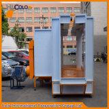 la cabine d'enduit de poudre de qualité de longueur de 3m avec le filtre récupèrent