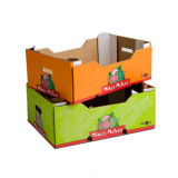 Boîte en carton noir en carton ondulé