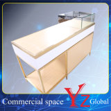 陳列ケース(YZ161708)の飾り戸棚のステンレス鋼の表示棚の表示ショーケース展覧会のキャビネットの店のカウンター