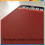Hsinda rojo brillante de cuero de seda en polvo de revestimiento