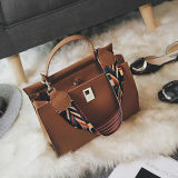 European Best Popular Satchel Senhora Shoulder Bag Unique Fashion Colorful Wide Strap Handbags Sy8155