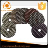 화강암 대리석 돌을%s 건조한 닦는 패드 다이아몬드 수지 패드