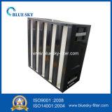 Воздушный фильтр V-Крена HEPA для твердой системы HVAC коробки