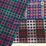 Farben des Jacquardwebstuhl-Check-und PUNKT Wolle-Gewebes betriebsbereit