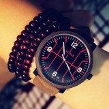 Montre-bracelet de caisse de mode de 323 Yazole grande de montre imperméable à l'eau unisexe de sport pour les hommes