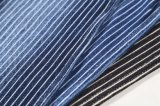 販売の伸張のデニムファブリックを編む柔らかい300GSM縞のジーンズ