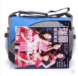 O lazer masculino do saco do mensageiro do saco de ombro ostenta o saco coreano fêmea do nylon do saco do estudante da High School da trouxa
