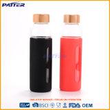 Waterbottle de cristal negro/rojo de la pared doble modificada para requisitos particulares el mejor del precio color
