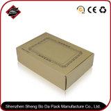 Wholesales impresión personalizada cartón corrugado cajas de papel Kraft Caja de regalo con tapa (JP-box047)