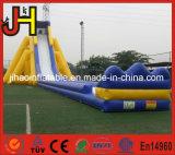 極度の長い車線のスライド、競争のための膨脹可能な水スリップのスライド