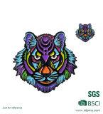 BSCI Fabrik-Metallfertigkeit-Tiger-Tierabzeichen-Halter