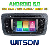 Автомобиль DVD Android 6.0 сердечника Witson 8 для места Ibiza 2009-2013
