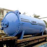 Autoclave de borracha horizontal aprovada do Vulcanization do aquecimento de vapor de ASME