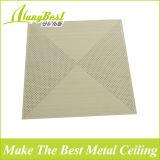 Clip di alluminio perforata di nuovo di disegno 2018 colore di legno del grano in mattonelle del soffitto