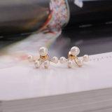 Таким образом Difei элегантный 18K Gold или Родием -женщин Earring Pearl Earring с золотым покрытием