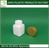 бутылка пластмассы пилюльки квадрата HDPE 50ml