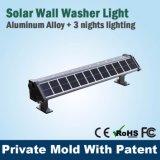 Aluminio impermeable al aire libre creativo de color cambia la iluminación de la pared de la arandela de luz LED, arandela de la pared LED