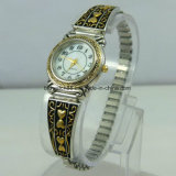 Relógios de pulso de moda Ladies Gold Crystal Jewelry Watch Quartz
