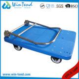 Chariot de service à plate-forme lourde en plastique avec 4 roues