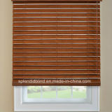 cortinas horizontais Venetian de madeira dos Slats de 63mm com o de madeira Venetian da escada 50mm da fita