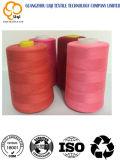 Hilo de coser 120d/2 de la máquina de coser de la materia textil roja del bordado