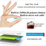 крена силы карточки 2600mAh Powerbank заряжатель батареи миниого передвижного портативный