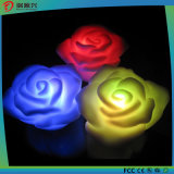Moda al por mayor flor forma vela LED Rose luz