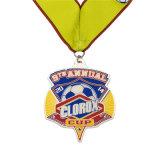 Vernici dure su ordinazione del mercato di marchio di Keychain della medaglia di calcio dell'oro dello smalto