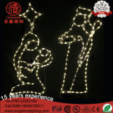 LEIDENE 1.5m IP65 Grote Geboorte van Christus 3 Licht van Kerstmis van de Vakantie van Wijzen het Openlucht voor de Decoratie van het Gazon
