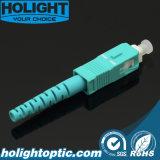 Conector de fibra óptica OM3 Sc 3,0 mm de Aqua