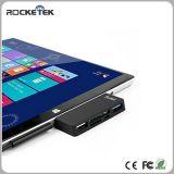 Hub USB Rocketek 3,0 leitor de cartões para Microsoft Surface 3 e 4 12,3 polegadas