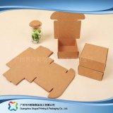 Kraft 종이 평지에 의하여 포장되는 폴딩 포장 보석 선물 상자 (xc-pbn-021c)