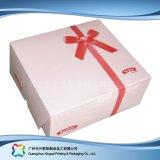 Caixa de embalagens de papel cartão personalizáveis para alimentos/ Bolo (xc-fbk-037)