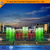 Fontana corrente di musica dell'ugello di figura su ordine dei 6 cerchi