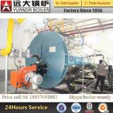 Pétrole de Wns/chaudière à vapeur au fuel horizontale à gaz de Corrguted de chaudière à vapeur en spirale