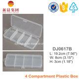 4개의 격실 명확한 플라스틱 상자