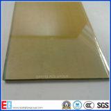 vidro 24k/fora de linha reflexivo dourado de 4mm 5mm 6mm vidro reflexivo
