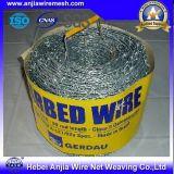 電流を通されたとげがある鉄ワイヤーまたは有刺鉄線の網または機密保護の鉄条網
