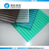 Sgs-anerkannte See-blaue Polycarbonat-Höhlung-Polykarbonat-Panel