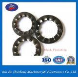 Rondelle de freinage dentelée interne noire de rondelles d'acier inoxydable de rondelle du finissage DIN6798j