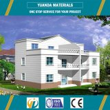 Casa modular da casa de campo pessoal pré-fabricada da casa Using o sistema de energia solar