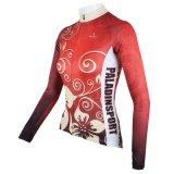 Настроенные на открытом воздухе женские футболки длинной втулки на велосипеде футболках Nikeid Chinese-Style Lucky цветы