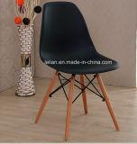 Presidenza di plastica di Dsw del salone con i piedini di legno per mobilia domestica (LL-0040)