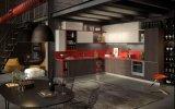 MFC van de Keuken van de manier de Rode Karkas en Keuken Carbinet van de Deur van de Lak