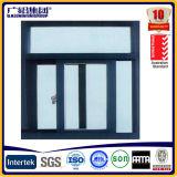 Ventana corredera de doble vidrio para uso doméstico impermeable con marco de aluminio amarillo